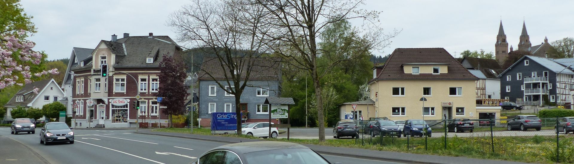 Eine Straße in Hilchenbach
